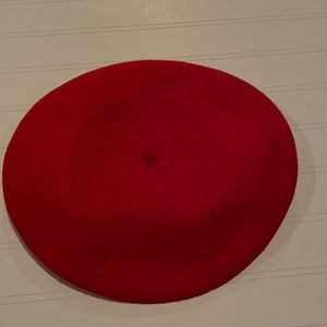RED 100% WOOL BERET BASQUE DELUXE